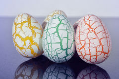 Damaged Egg with cracks Royalty Free Stock Image