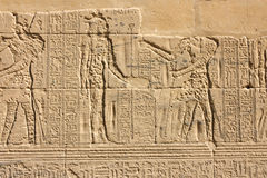 Damaged Egyptian hieroglyphs Royalty Free Stock Image