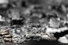 Damaged electronic equipment Stock Photos