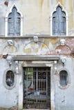 Damaged facade, Venice, Italy Royalty Free Stock Photos