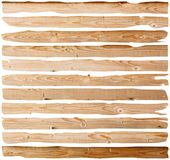 Damaged fir planks Royalty Free Stock Photo