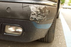 Damaged front bumper royalty free stock photos