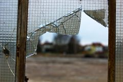 Damaged glass Royalty Free Stock Photography
