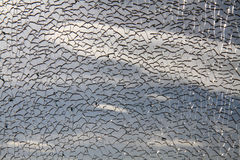 Damaged glass window Stock Photography