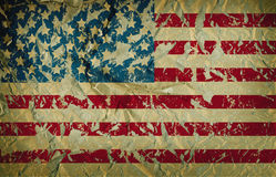 Damaged grungy USA flag,. Stars and stripes Stock Photography