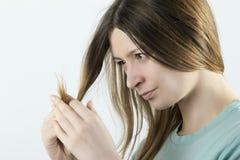 Damaged hair II stock photos