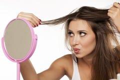 Damaged hair Royalty Free Stock Photo
