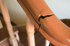 Damaged handrail Stock Photography