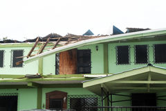 Damaged house Royalty Free Stock Photography