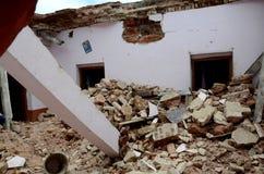 DAMAGED HOUSE Royalty Free Stock Image
