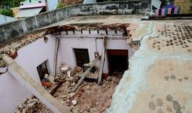 DAMAGED HOUSE Stock Photography