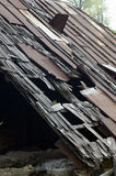 Damaged house roof Royalty Free Stock Image