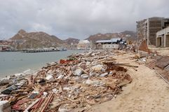 Damaged by hurricane Odile marine of Cabo San Stock Photos