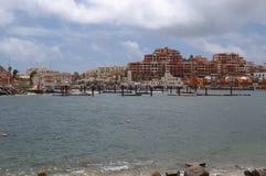 Damaged by hurricane Odile marine's sleeps Royalty Free Stock Image