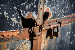 Damaged Iron Door Stock Photos