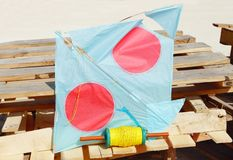 A damaged kite Royalty Free Stock Photography