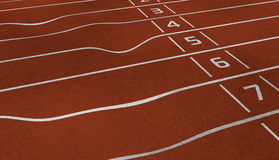 Damaged lanes. With lines and numbers Royalty Free Stock Photography
