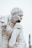 Damaged Lenin statue, peeling vintage paint. The concept of syst. Em failure, closeup portrait Stock Images