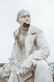 Damaged Lenin statue, peeling vintage paint. The concept of syst Stock Images