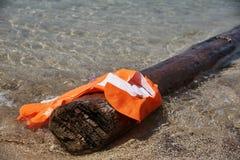 A damaged life jacket royalty free stock image
