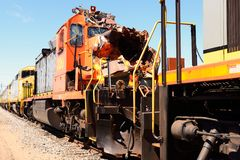 Damaged locomotive Royalty Free Stock Images