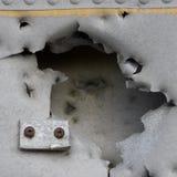 Damaged Metall of old plane Royalty Free Stock Image