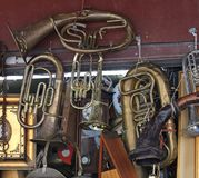 Damaged Musical Instruments Royalty Free Stock Photography