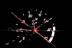 Damaged odometer Royalty Free Stock Photography