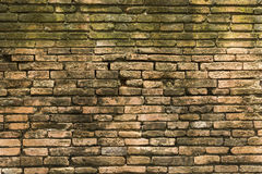 Damaged old brick wall Royalty Free Stock Images