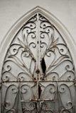 Damaged Old Ornate Metal Door Gate Stock Image