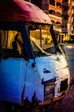 Damaged Old Van Royalty Free Stock Images