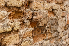 Damaged old wall. Stock Photo