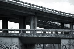 Damaged overpass Stock Photos
