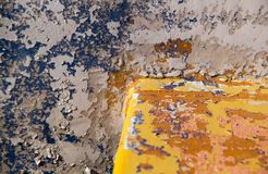 Damaged Painted Blue and Yellow Old surfacel Banner Background T. Exture.Abstract background and pattern for design Royalty Free Stock Photography