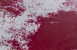 Damaged Painted White and Red  Old surface Banner Background Tex. Ture.Abstract background and pattern for design Stock Photography