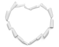 Damaged paper heart Royalty Free Stock Photo