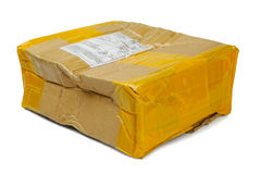 Damaged parcel Royalty Free Stock Image