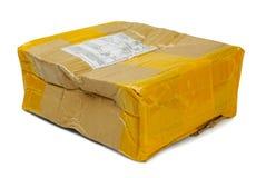Damaged parcel royalty free stock image
