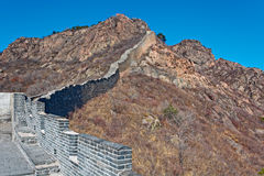 Damaged part of Great China wall Royalty Free Stock Images