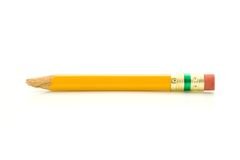 Damaged Pencil. This is a macro shot of a damaged pencil over a white background Royalty Free Stock Photos