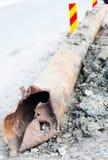 Damaged pipe Royalty Free Stock Image