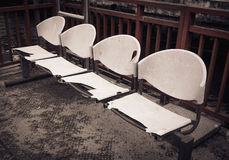 Damaged plastic chairs Royalty Free Stock Images