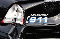 Damaged Police Car Royalty Free Stock Photography