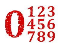 Damaged red numbers Royalty Free Stock Image