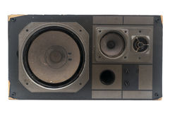Damaged retro speaker Stock Images