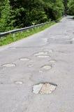 Damaged road Stock Image