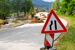 Damaged road Royalty Free Stock Photography