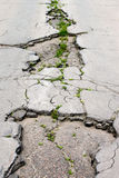 Damaged Road Close-up Royalty Free Stock Photos