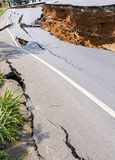 Damaged Road Royalty Free Stock Image