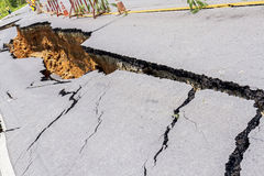 Damaged Road Stock Photography